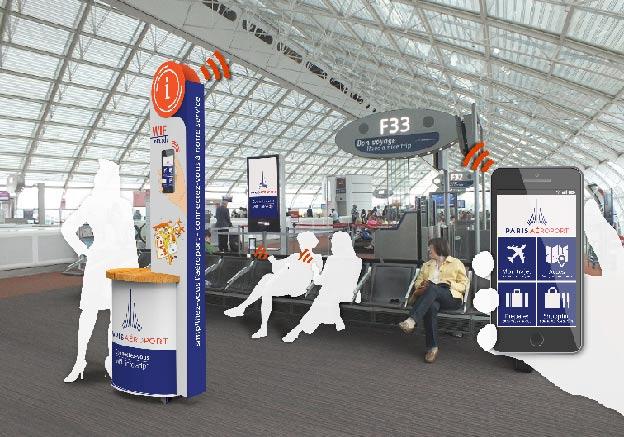 borne_connectée_information_numerique_aeroport